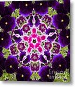 Flower Kaleidoscope Resembling A Mandala Metal Print