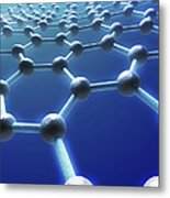 Graphene Structure Metal Print