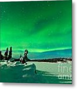 Intense Display Of Northern Lights Aurora Borealis Metal Print