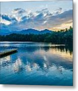 Lake Santeetlah In Great Smoky Mountains North Carolina Metal Print