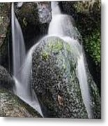 Landscape Of Becky Falls Waterfall In Dartmoor National Park Eng Metal Print