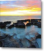 10 Mile Lagoon Metal Print by Sally Nevin