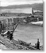 Panama Canal, C1910 Metal Print