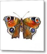10 Peacock Butterfly Metal Print