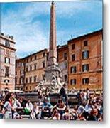 Piazza Della Rotonda In Rome Metal Print
