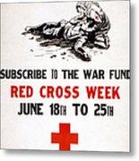 Red Cross Poster, C1917 Metal Print
