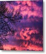 Red Sky At Morning Metal Print