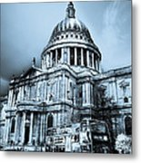 St Paul's Cathedral London Art Metal Print