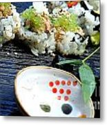 Sushi California Roll Metal Print