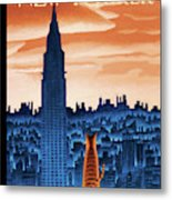 New Yorker January 12th, 2009 Metal Print
