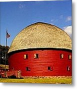 100 Year Old Round Red Barn  Metal Print