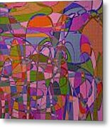 1008 Abstract Thought Metal Print