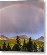 100801a-14 Two Medicine Rainbow Metal Print