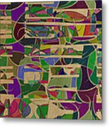 1023 Abstract Thought Metal Print