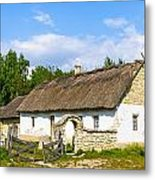 A Typical Ukrainian Antique House Metal Print