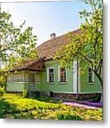 A Typical Ukrainian Antique House Metal Print