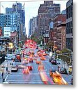 10th Avenue Rush Hour Metal Print