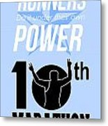 10th Marathon Race Poster  Metal Print