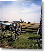 10th Mass Battery - Gettysburg Metal Print