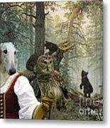 Borzoi - Russian Wolfhound Art Canvas Print Metal Print