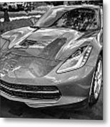 2014 Chevrolet Corvette C7 Bw   Metal Print