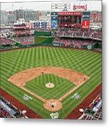 Atlanta Braves V. Washington Nationals Metal Print