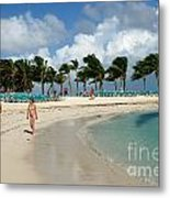 Beach At Coco Cay Metal Print
