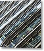 Canary Wharf London Abstract Metal Print