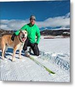 Colorado Cross Country Skiing Metal Print