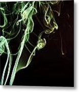 Colored Smoke Metal Print