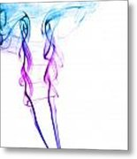 Colourful Smoke Metal Print