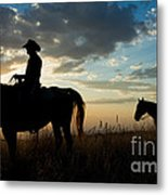 Cowboys Metal Print