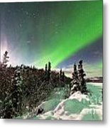 Intense Display Of Northern Lights Aurora Borealis Metal Print