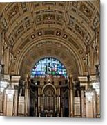 Interior Of St Georges Hall Liverpool Uk Metal Print
