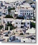 Mykonos Town Metal Print