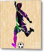Soccer Metal Print