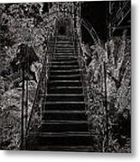 Staircase Leading To A Higher Level In Siloso Hotel In Sentosa Metal Print