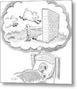 New Yorker December 12th, 2005 Metal Print