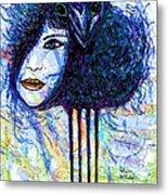 Vintage Hair Comb Metal Print