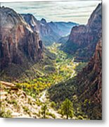Zion National Park In Autumn Metal Print