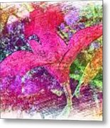 The Red Orchid Metal Print