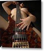 1117 Nude Woman With Guitar Metal Print