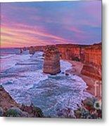 12 Apostles At Sunset Pano Metal Print