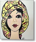 Flapper Girl Claire Metal Print