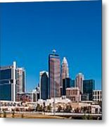 Charlotte City Skyline Autumn Season Metal Print