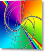 Depression Color Therapy Inside A Rainbow Metal Print