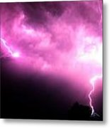 Rounds 2 3 Late Night Nebraska Storms Metal Print