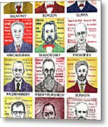 12 Russian Composers Metal Print