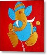 12 Shubham - Auspicious Ganesha Metal Print