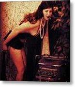 Typewriter Erotica Metal Print